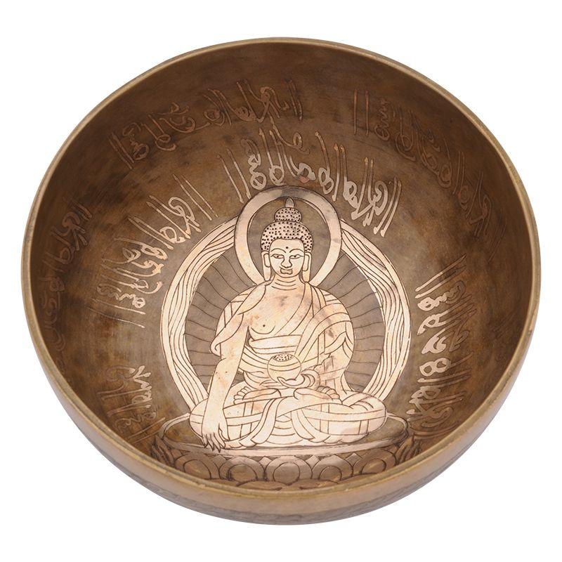 Tibetská mísa zdobená 1064 g - průměr 19,5 cm Buddha