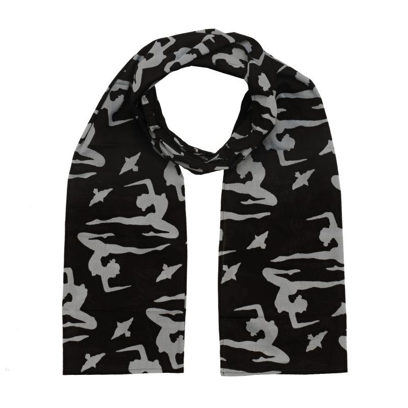 Šátek Paris 155 x 65 cm Jogini černý bavlněný | SoNo spol. s r.o.