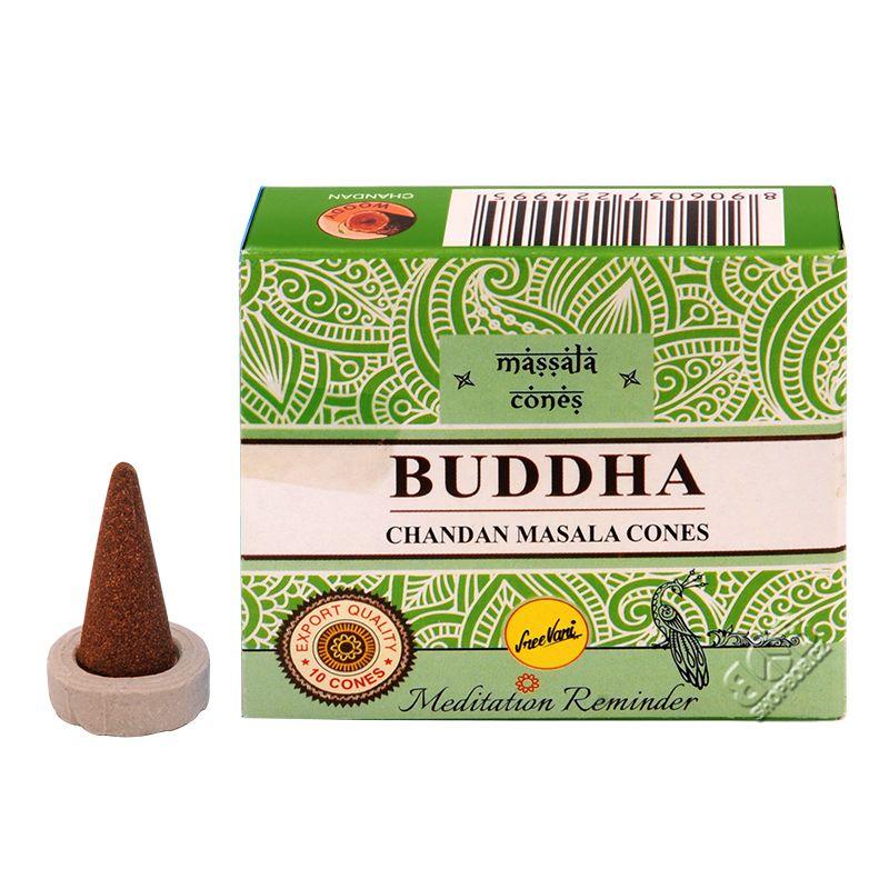 Sree Vani Masala Buddha indické vonné františky 10 ks | SoNo spol. s r.o.