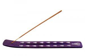 Stojánek na vonné tyčinky - lyže Color Buddha fialový II