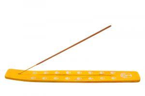 Stojánek na vonné tyčinky - lyže Color Strom života žlutý
