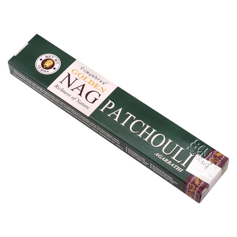 Vijayshree Golden Nag Patchouli masala indické vonné tyčinky 15 g