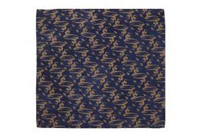Hedvábný šátek 110 x 105 cm Jogini modrý
