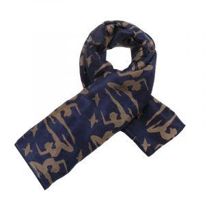 Šátek hedvábí 110 x 105 Jogini modrý