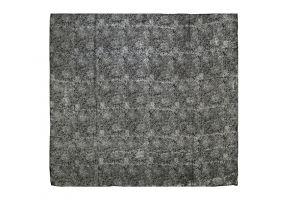 Hedvábný šátek 110 x 105 cm Květy černý