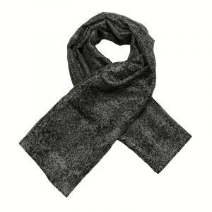 Šátek hedvábí 110 x 105 Květy černý