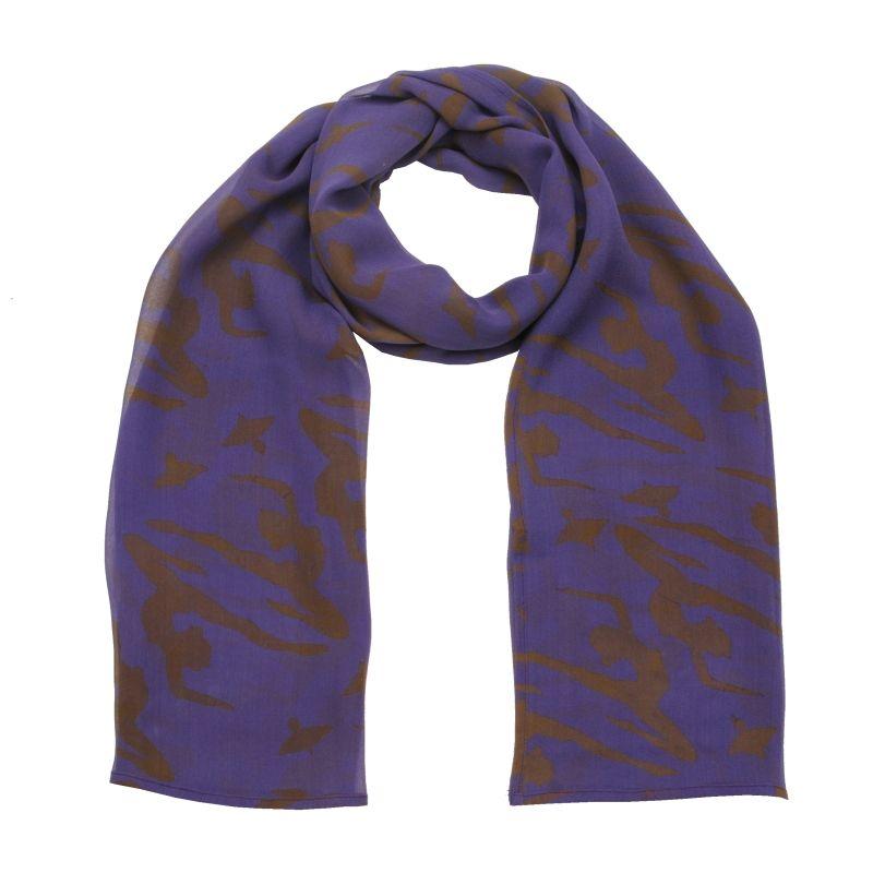 Hedvábný šátek 150 x 50 cm Jogini fialový šifon | SoNo spol. s r.o.