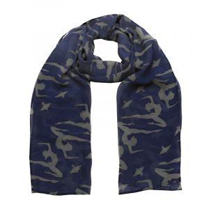 Šátek hedvábí 150 x 50 Jogini modrý šifon