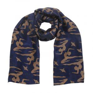 Šátek hedvábí 150 x 50 Jogini modrý