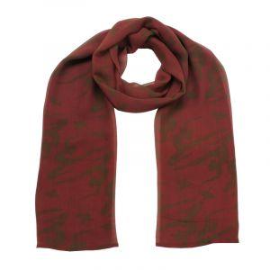 Šátek hedvábí 150 x 50 Jogini vínový šifon