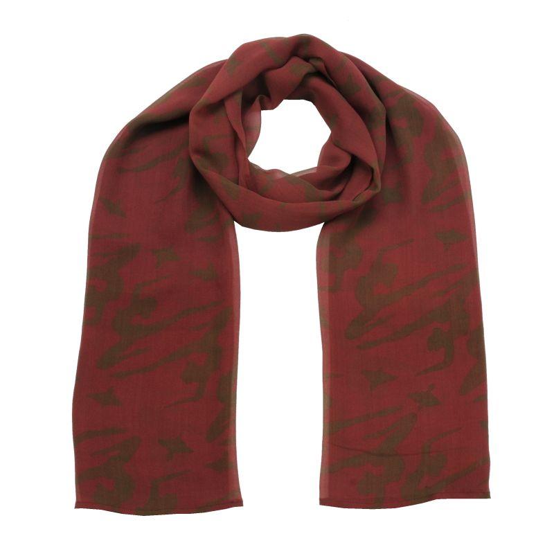 Hedvábný šátek 150 x 50 cm Jogini vínový šifon | SoNo spol. s r.o.