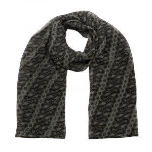 Šátek hedvábí 150 x 50 Parang černý šifon