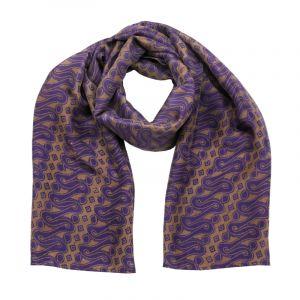 Šátek hedvábí 150 x 50 Parang fialový