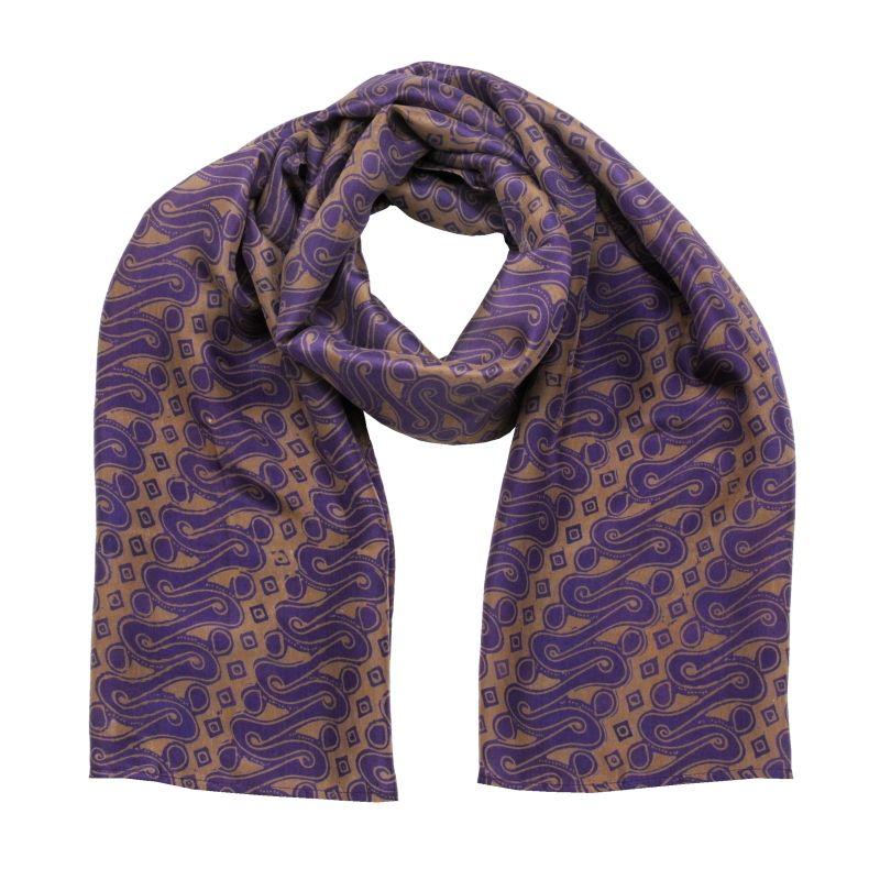 Hedvábný šátek 150 x 50 cm Parang fialový   SoNo spol. s r.o.