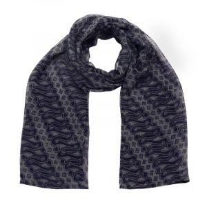 Šátek hedvábí 150 x 50 Parang modrý šifon