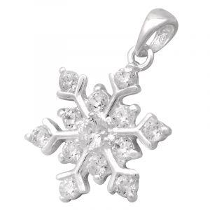 Stříbrný přívěsek se zirkony Ag 1,4 g sněhová vločka   SoNo spol. s r.o.