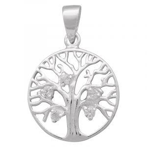 Stříbrný přívěsek zirkony Ag 1,6 g strom života