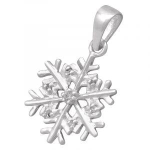 Stříbrný přívěsek zirkony Ag 1,7 g sněhová vločka