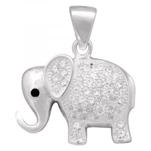 Stříbrný přívěsek zirkony Ag 2,5 g slon