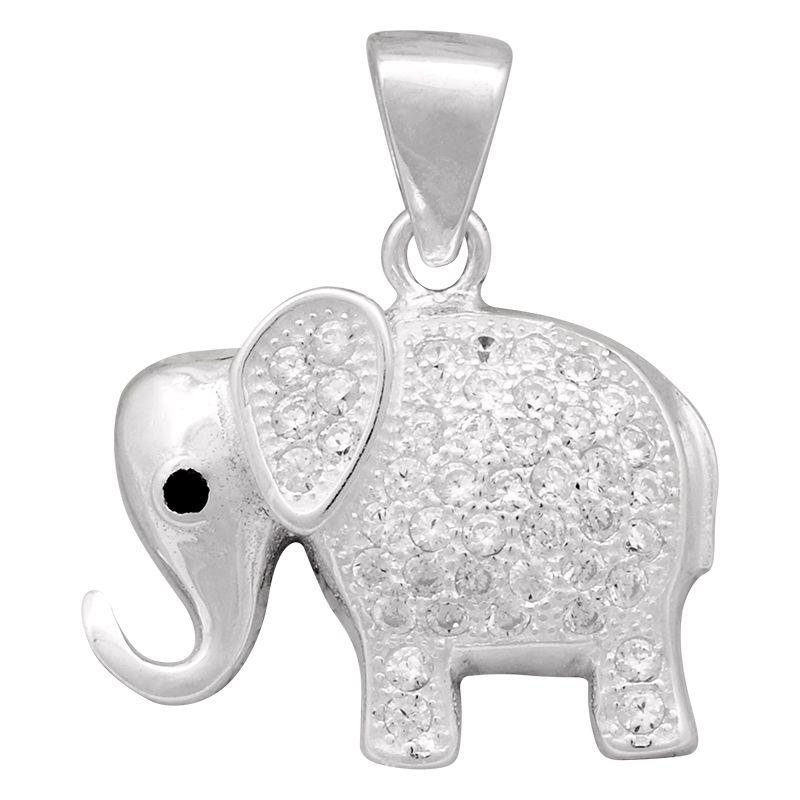 Stříbrný přívěsek se zirkony Ag 2,5 g slon