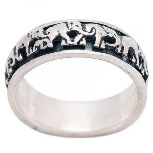 Stříbrný prsten Ag 7,0 g sloni