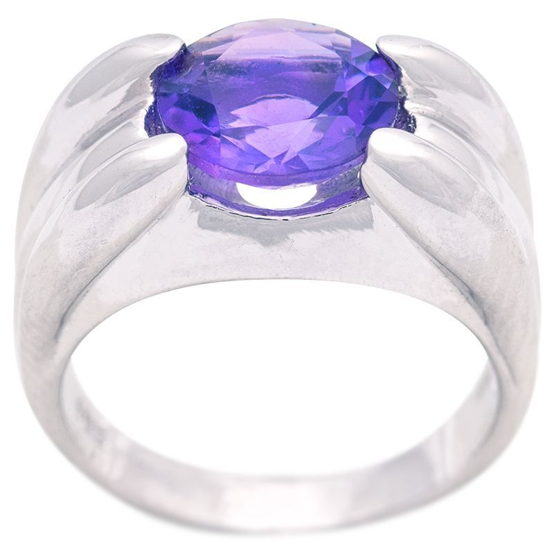 Stříbrný prsten ametyst Ag 8,3 g