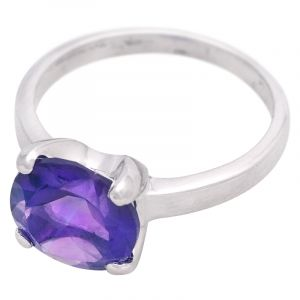 Stříbrný prsten s ametystem Ag 3,4 g | SoNo spol. s r.o.