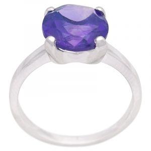 Stříbrný prsten s ametystem Ag 3,4 g