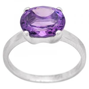 Stříbrný prsten ametyst Ag 3,5 g