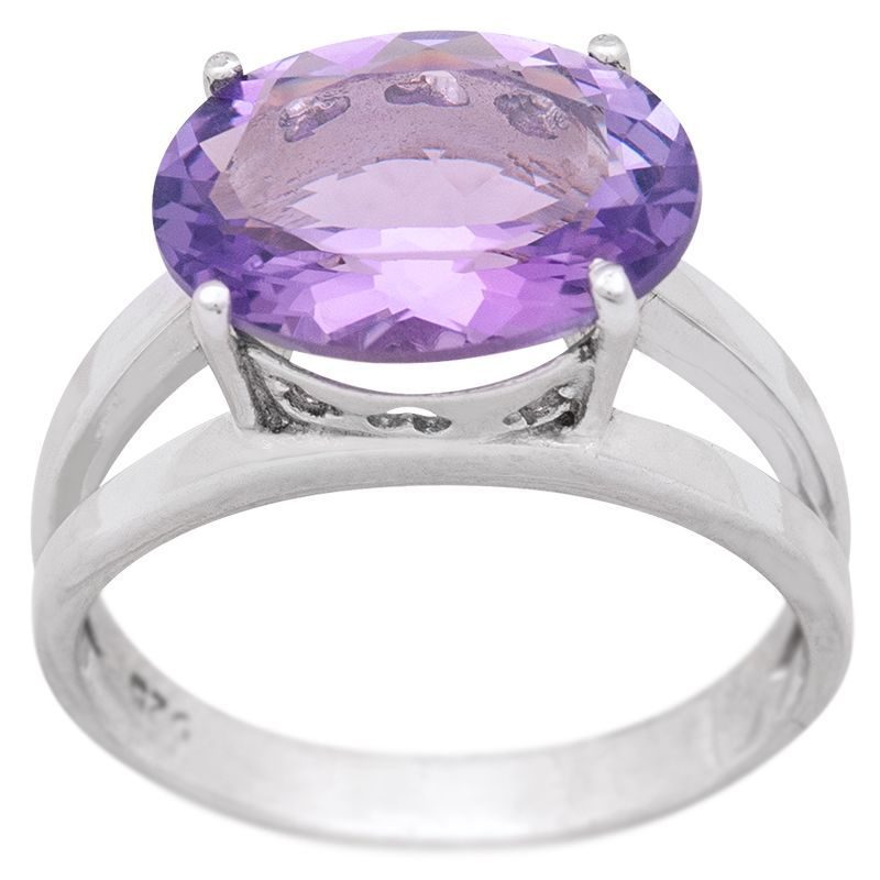 Stříbrný prsten s ametystem Ag 4,9 g