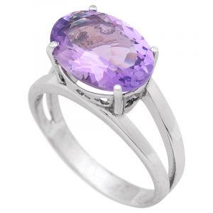 Stříbrný prsten s ametystem Ag 4,9 g | SoNo spol. s r.o.