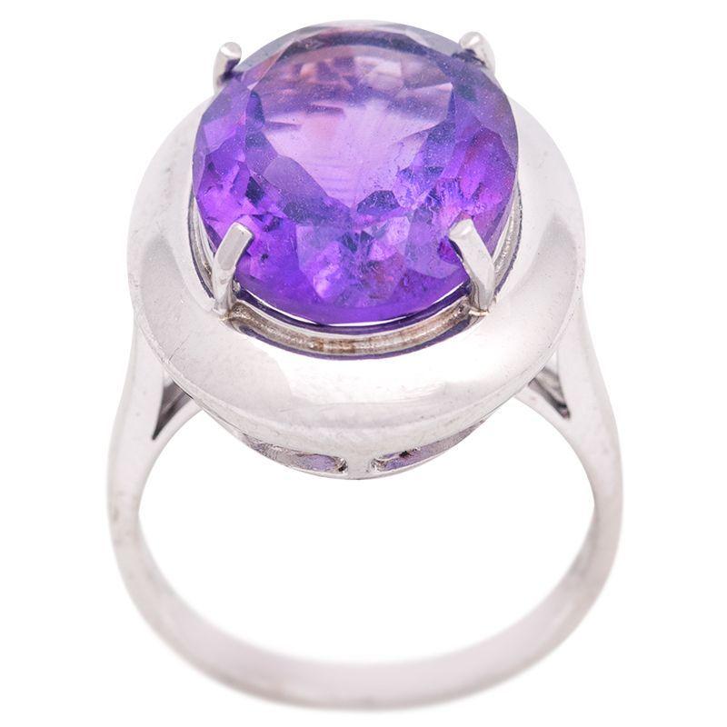Stříbrný prsten s ametystem Ag 8,9 g