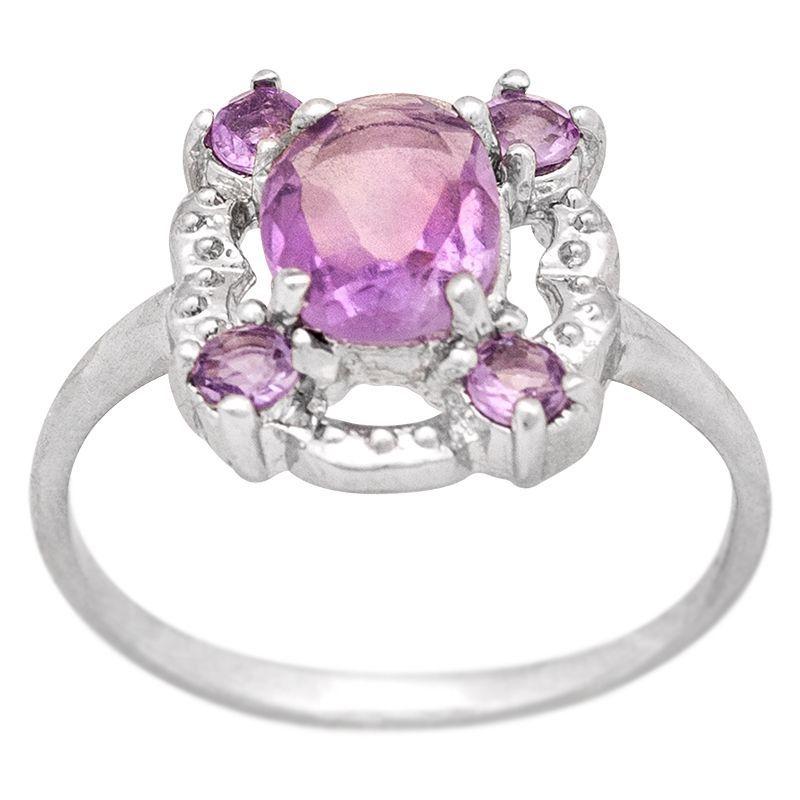 Stříbrný prsten s ametysty Ag 2,3 g   SoNo spol. s r.o.