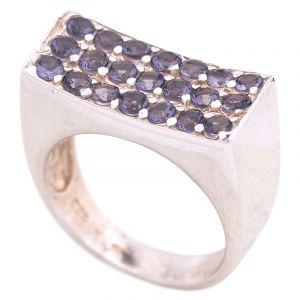 Stříbrný prsten s ametysty Ag 8,7 g | SoNo spol. s r.o.