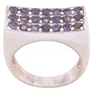 Stříbrný prsten ametysty Ag 8,7 g