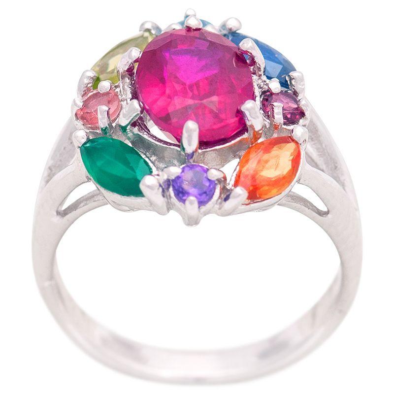 Stříbrný prsten s drahými kameny Ag 5,0 g