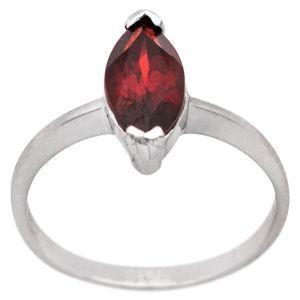 Stříbrný prsten granát Ag 2,3 g