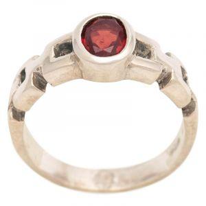 Stříbrný prsten s granátem Ag 4,9 g