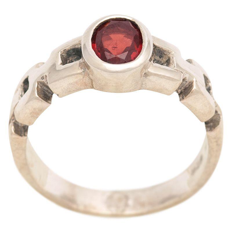 Stříbrný prsten s granátem Ag 4,9 g | SoNo spol. s r.o.