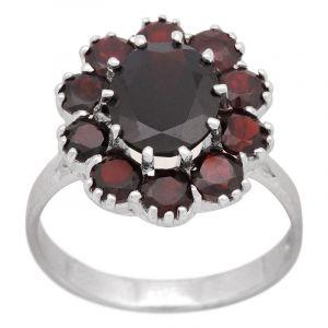 Stříbrný prsten granáty Ag 4,8 g