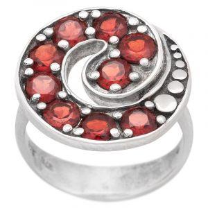 Stříbrný prsten granáty Ag 6,8 g