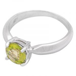Stříbrný prsten s olivínem Ag 3,0 g