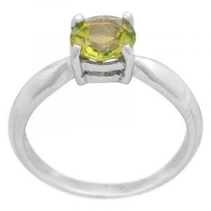 Stříbrný prsten olivín Ag 3,0 g