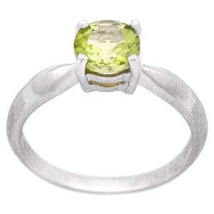 Stříbrný prsten s olivínem Ag 3,1 g