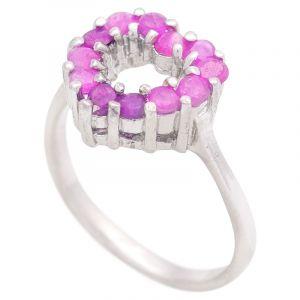 Stříbrný prsten s rubíny Ag 3,8 g srdce