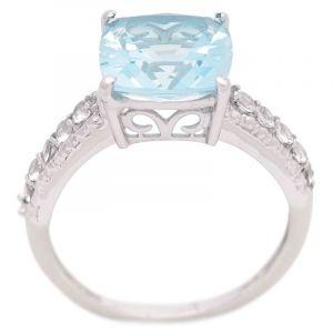 Stříbrný prsten s Sky Blue topazem a zirkony Ag 3,4 g | SoNo spol. s r.o.