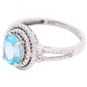 Stříbrný prsten s Sky Blue topazem Ag 3,4 g