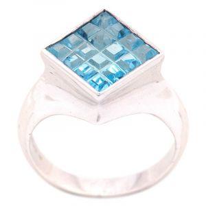 Stříbrný prsten s Sky Blue topazem Ag 7,3 g | SoNo spol. s r.o.