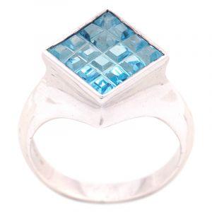 Stříbrný prsten Sky Blue topaz Ag 7,3 g