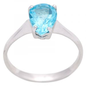 Stříbrný prsten s Swiss Blue topazem Ag 2,8 g
